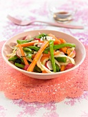 Crisp vegetable salad
