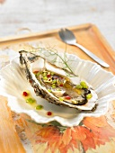 Oyster with vinaigrette