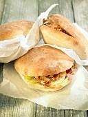 Pitta sandwiches