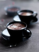 Earl Grey tea-flavored hot chocolate