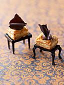 Chocolate flaky pastry bites