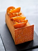Candied citrus fruit crunchy fashion log cake