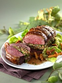 Stuffed and roasted duck breasts