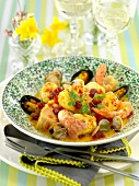 Spanish seafood Blanquette