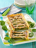 Asparagus and almond tart