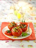 Tomatoes stuffed with ratatouille