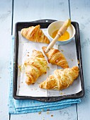 Plain and cheese croissants