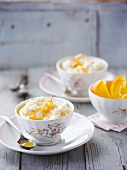 Orange-flavored rice pudding