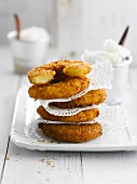 Pineapple and coconut fritters
