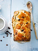 Raisin homemade bread loaf