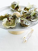 Oysters in Granny Smith apple jelly