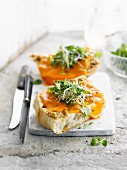 Cheddar and herb Bruschetta