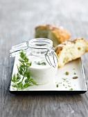 Yoghurt and dill sauce