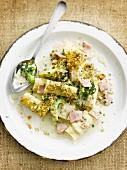 Pasta,ham,cheese and broccoli salad