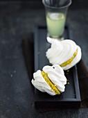 Meringue whoopies with lemon mousse filling