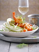 Fennel and scampi salad