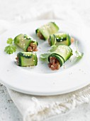 Zucchini and fresh tuna rolls