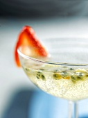 Champagne and passionfruit cocktail