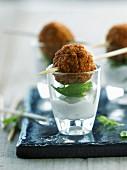 Lamb meatballs with tzatziki sauce