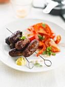 Mini sausage brochettes