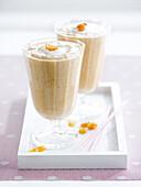 Banana-cereal milkshake