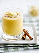 Pumpkin, almond and cinnamon milkshake
