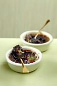 Bilberry-pistachio Crèmes brûlées