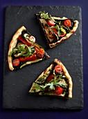 Feine Tarte mit Gemüse, Pistou und Tapenade