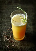 Fennel and orange juice with caraway