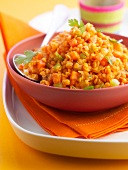 Orange lentils with carrots