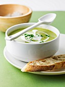Cream of zucchini and potato soup