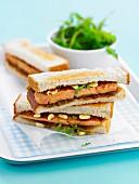 Foie gras toasted sandwich