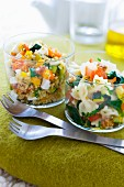 Tabbouleh Verrine and pasta salad Verrine