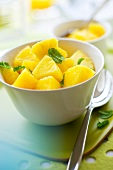 Pineapple fruit salad with fresh mint
