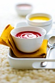 Chilled summer fruit soup