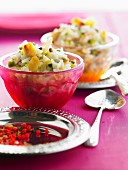 Rice pudding with dried fruit