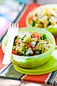 Farfalle and vegetable salad