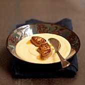 Cream of swedish turnip soup with pan-fried foie gras