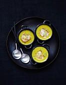 Scallops in coconut milk with turmeric and citronella