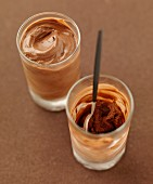 Iced cocoa mousse