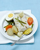 Cod and vegetables with Aïoli