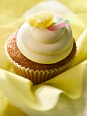 Coconut and pineapple cupcake