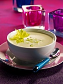 Cream of celery and zucchini soup