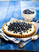 Fromage blanc, bilberry and maple syrup pie