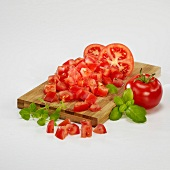 Dicing tomatoes