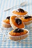 Soft plum cupcakes