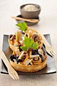 Mushroom and parmesan tartlet