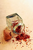Small jar of crushed red chili pepper