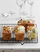 Mini artichoke-ham cakes