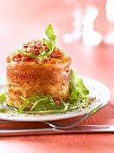 Carrot and streaky bacon savoury cake